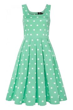 Mentolové šaty s puntíky Dolly & Dotty Amanda Amanda, Retro, Dresses, Fashion, Vestidos, Moda, Fashion Styles, Dress, Retro Illustration