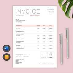 Invoice Design Template, Stationery Templates, Freelance Invoice Template, Order Form Template, Receipt Template, Checklist Template, Cost Sheet, Printable Invoice, Form Design