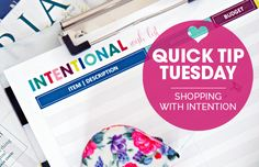 IHeart Organizing: Quick Tip Tuesday: Shopping With Intention