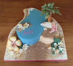 Airlie's beach cake by Torki's Sugar Art, via Flickr