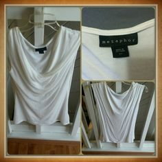 Metaphor drop neck shirt The Metaphor drop neck shirt is a great summer must-have,  crisp white goes with everything in your closet.  Pair with your favorite shorts, or dress it up for a day out in the town.  Used but in good condition. Metaphor Tops