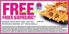 Taco Bell Coupons PROMO expires May 2020 Hurry up for a BIG SAVERS I am sure our team has found the latest taco bell coupon. Mother's Day Coupons, Love Coupons, Grocery Coupons, Free Printable Coupons, Free Printables, Taco Bell Coupons, Taco John's, Dollar General Couponing, Coupons For Boyfriend