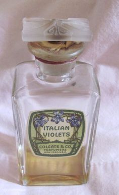 Vintage perfume bottle 'Italian Violets' by Colgate, still sealed | eBay