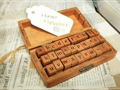 Wooden Rubber Stamp Box Alphabet Stamps Print Style Korea DIY vintage Stamps  - Lowercase Letters 30 Pcs op Etsy, $7.52