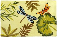 Bamboo Dragonfly Area Rug