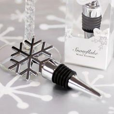 Silver snowflake wine stopper favors are popular gifts for winter wedding receptions, holiday parties and corporate events. Christmas Wedding Favors, Winter Wedding Favors, Christmas Parties, Winter Weddings, Xmas Party, Summer Wedding, Party Time, Inexpensive Wedding Favors, Unique Wedding Favors