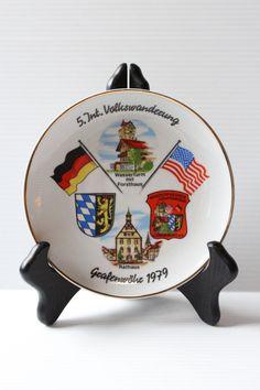 GERMAN SOUVENIR PLATE 1979 Vintage Ceramic Keepsake by TheJellyJar