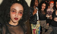 FKA Twigs teases her ample bust in sheer embellished top at LOVE bash