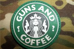 OML Patches - PVC   VELCRO - Guns and Coffee (full color), $6.00 (http://www.omlpatches.com/pvc-velcro-guns-and-coffee-full-color/)