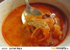 Dokonalá zelňačka recept - TopRecepty.cz Tzatziki, Thai Red Curry, Food And Drink, Soup, Menu, Treats, Cooking, Health, Ethnic Recipes