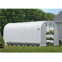 X X Growit Heavy Duty Walk - Thru Greenhouse Round Style - Translucent - Shelterlogic, Clear Tunnel Greenhouse, Small Greenhouse, Greenhouse Plans, Portable Greenhouse, Backyard Greenhouse, Aquaponics Diy, Hydroponics, Lawn And Garden, Home And Garden