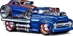 ( ☞ 2017 ☆ CARTOON HOT ROD. ) ☞ 1937 Topolino Altered. Motorcycle Posters, Car Posters, Motorcycle Art, Bike Art, Cartoon Car Drawing, Cartoon Art, Hot Rod Trucks, Toy Trucks, Arte Pink Floyd