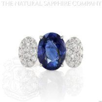Classic and stunning   5.10ct Natural Untreated Oval Blue Sapphire Set in an 18k white gold setting with 1.07cts of Diamond http://astore.amazon.com/greabengagementring-20/detail/B00EKZK3RG