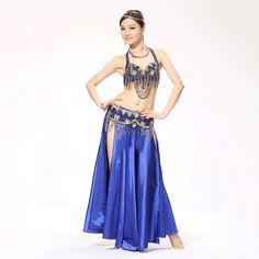 Traje de la Danza del vientre Con cuentas de sistema de la Ropa de la Mujer Del Vientre Vientre Profesional sujetador y falda