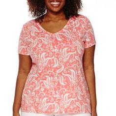 St. John's Bay® Short-Sleeve V-Neck T-Shirt - JCPenney