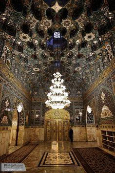 Inside the holy shrine of Imam Reza (a.s)