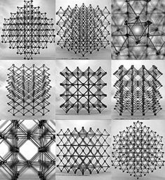 "By 3D printing lots of small pieces that can be combined, scientists at MIT built a composite material that's up to 10 times stiffer than existing ultralight materials. The structure is made up of cross-shaped pieces into ""a cubic lattice of octahedral cells, a structure called a ""cuboct""."