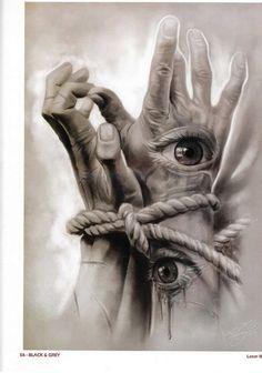 Badass Drawings, Dark Art Drawings, Arte Horror, Horror Art, Manos Tattoo, Creepy Tattoos, Soul Art, Creepy Art, Dark Photography