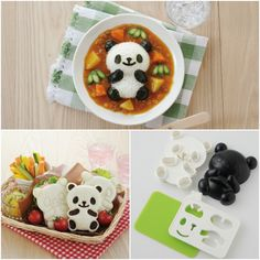 Panda Sandwich Cutter and Rice Mold 3