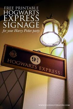 The magic begins at Platform 9 3/4! Quickly print off this free downloadable sign and make them believe at your next Harry Potter party.