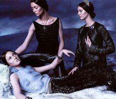 Audrey Marnay, Maggie Rizer and Sunniva Stordahl for Versace Fall Winter 1998 Campaign