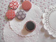 Neat stuff-fabric flower headband, magnets.