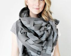 Grey Scarf Wraps Shawls Unique Handmade Scarves Blanket Scarf Handwoven Oversize Scarf Weaving Fashion Scarves Womens Scarves Warm Shawl Lap Scarves Unique Scarves Woven Shawl Woven Wrap Gift Idea For Her Womens Fall Fashion Scarves Womens Fashion Accessories by GREYMATTERCOLLECTION  ––––––––––––––––––––––––––––––––––––––– UNIQUELY ADAPTABLE, WOVEN BY HAND TREASURES.  Grey Matter Collections original large weave scarves offer a new stunning texture and design that begs to be styled. Simply…