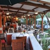 River Cafe in Puerto Vallarta. kinda fancy. is on an island in the middle of a river. what