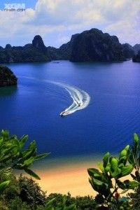 Cat Ba Island, Vietnam.  One of the bluest oceans I have ever seen!