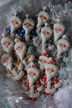 Новый год 2017 ручной работы. Ярмарка Мастеров - ручная работа. Купить Фигурки на елку. Handmade. Комбинированный, снеговик, фигурка магнит