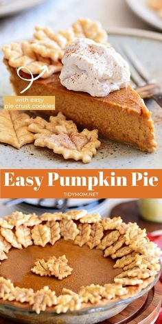 Everyone can make homemade pumpkin pie! With a rich, spiced pumpkin filling this easy pumpkin pie recipe is packed with flavor. Use a homemade or store-bought crust, mix the filling and bake. It's that easy! Don't forget fresh whipped cream on top! Thanksgiving pie never looked this good or so easy! PRINTABLE RECIPE + VIDEO at TidyMom.net