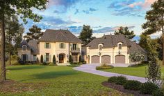 French Country Classic with Angled Garage and Space Above - 56419SM | 1st Floor Master Suite, Bonus Room, Butler Walk-in Pantry, CAD Available, European, French Country, Luxury, Media-Game-Home Theater, Multi Stairs to 2nd Floor, PDF, Southern | Architectural Designs