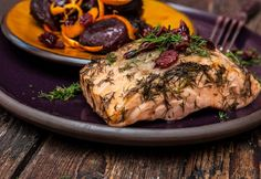 Lazac céklaágyon Meat Recipes, Food Inspiration, Steak, Pork, Beef, Chicken, Kitchen, Drink, Kale Stir Fry