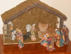 In this blog, we have 15 cats who crashed the nativity scene and did not care at all. Gotta love felines.