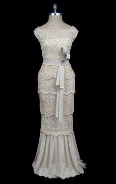 vintage Valentino (c. 1970) wedding gown.