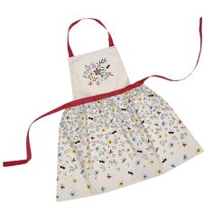 Fab 1950s retro pinny with our embroidery design, inspired by HM The Queen's Bedroom aboard Britannia.  © Ruth Armstrong  http://www.royalyachtbritannia.co.uk/shop/gifts-for-her/embroidery-collection-cotton-apron/c-24/c-76/p-1167