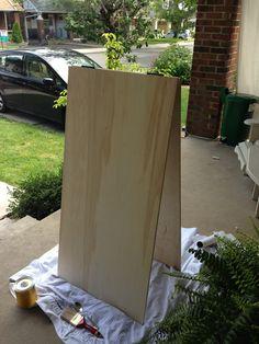 Aubrey & Lindsay's Little House Blog: chalkboard sandwich board