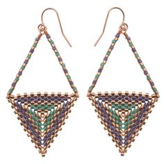 #Tutorial - How to: Equilateral #Earrings | Beadaholique #beadweaving
