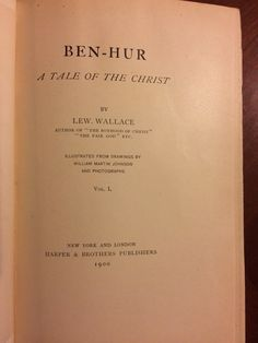 Check out what I scored!  And it's in beautiful condition. I hope I look this good @ 117 years old!  Starting it tonight.  Ben Hur ~~ A Tale of the Christ  by Lew Wallace  #fanofherbalassie #lovetoread #bookscanchangeyourlife