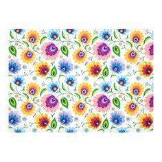 Polish Floral Pattern Cotton Linen Tablecloth 60