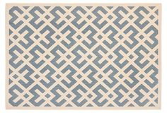 With its chic modern design, this weather-resistant rug is elegant enough to be part of your indoor decor, but tough enough for outdoor use.