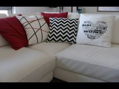 Fabric paint decorated pillows - YouTube