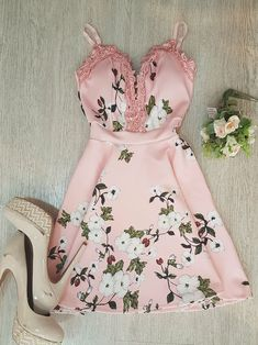 Dress Outfits, Casual Dresses, Short Dresses, Fashion Outfits, Womens Fashion, Pretty Outfits, Cool Outfits, Look Rose, Look Fashion