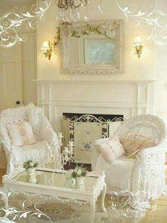 shabby chic cozy living room