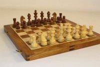 14 in. Folding Wood Chess Set