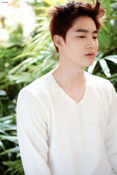 Suho being serious lol   EXO Dear Happiness photobook 2016 ♥