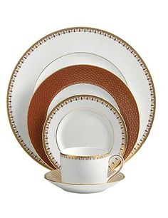 Waterford Lismore Diamond Cinnabar 5 Piece Place Setting