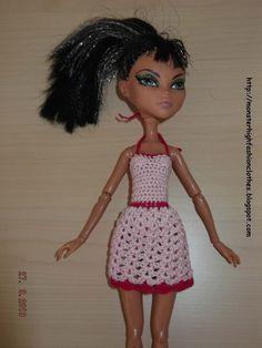 Ropa para muñecos - Ropa Monster High: v80 - hecho a mano por mamimonster en DaWanda