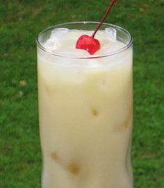 Ingredients for Painkiller: 2  oz. Dark Rum 1 oz. Cream of Coconut 4 oz. Pineapple Juice
