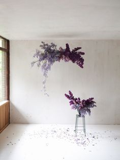 This wisteria and lilac cloud is just so simple pretty and darn perfect by Floral Foam, Deco Floral, Arte Floral, Purple Wedding, Floral Wedding, Wedding Flowers, Wedding Colors, Dried Flowers, Purple Flowers